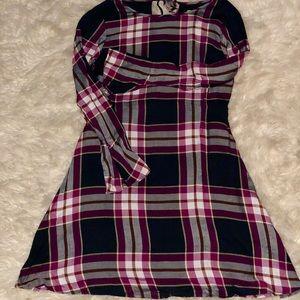 Plaid Print Skater Dress